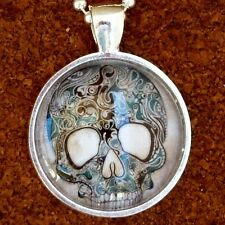 ODDITY HUMAN Sugar Skull necklace gothic tattoo biker Zombie  Day of the dead