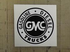 """Vintage GMC Gas Diesel Trucks sticker decal 3"""" diameter"""
