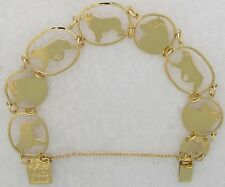Australian Shepherd Jewelry Gold New Design Bracelet by Touchstone