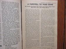 Nov-1960 TV Guide(WARD BOND FAREWELL/ANDY CLYDE/JOHN FORD/MARY STUART/JEAN BLAKE