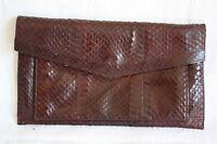 "Damen Leder Clutch Handtasche Vintage ""Schlangenoptik"""