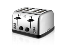 Stainless Steel Toasters with Crumb Tray and 4 Slices