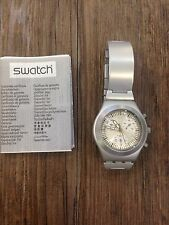 "OROLOGIO SWATCH IRONY ""CHRONO MEDIO"" TWILIGHT REF. YMS4000AG -NUOVO"
