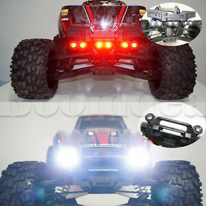 For TRAXXAS X-MAXX RC LED Headlamps + Rear Taillight + Light Stand Bracket Set