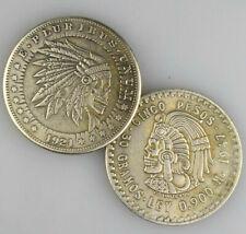 ★★ FANTAISIE SATYRIQUE USA : DOLLAR 1921 / 5 PESOS 1947 CRANE D'INDIEN ★★