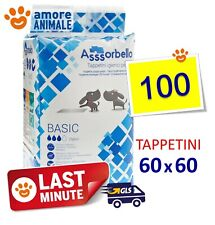 100 TAPPETINI Assorbello 60x60 BASIC - Traverse assorbenti per cani ex Fuss Dog