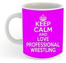 KEEP CALM E LOVE PROFESSIONALE Wrestling Mug - Rosa