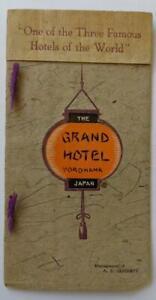 1918 VINTAGE TRAVEL BROCHURE GUIDE BOOK, THE GRAND HOTEL in YOKOHAMA JAPAN, ASIA