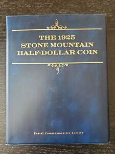 1925 Stone Mountain Half Dollar & Stamp Album