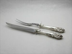 Wallace Sir Christopher Sterling Silver 2 Piece Carving Set - No Monogram
