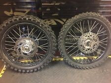 Yamaha Yz Yzf Front And Rear Wheels With Talon Hubs And Brake Discs Spindles Axl