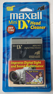 Maxell Mini DV Head Cleaner (Dry Type)  MDV/HC1 New Sealed