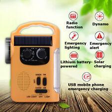 Solarstrom-Dynamo Radio Hand Kurbel 5 LED-Taschenlampe USB-Ladegerät AM / FM