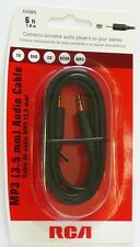 AH208N RCA 3.5mm Male to Male Stereo Cable, 6 ft for Mp3/Ipod to Car AUX Audio