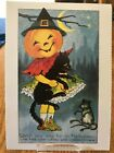 POSTCARD HALLOWEEN - WATCH YOUR STEP HALLOWE'EN (EARLY 20th CENTURY REPRO)