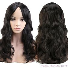 Cheap Multicolor Women Full Wig Long Curly Wavy Costume Cosplay Wigs Brown US gh