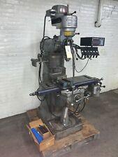 Bridgeport 9 X 32 1 Hp 8 Speed Ram Type J Head Vertical Milling Machine Dro