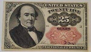 25 Cents 25c Fifth 5th Issue Fractional Currency Paper Currency Note UNC