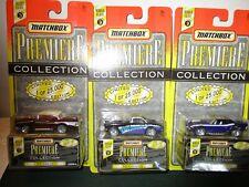 (3) Matchbox - 1996 Premiere Collection - Dodge Challenger,Corvette,57 Chevy