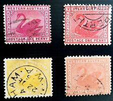 Antique Rare Collectible Set Of Western Australia Postage Stamps