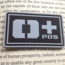 O+ POS BLOOD GROUP USA US ARMY BLOOD TYPE 3D PVC RUBBER BADGE HOOK PATCH