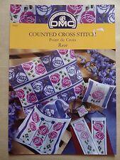 § DMC fascicule grilles point de croix P5087 ROSE - Susan Leech