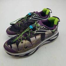Hoka One One Womens W Huaka Running Shoes Black Gray F10014J Low Top Lace Up 8.5