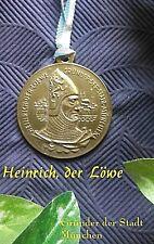 Plakette Heinrich der Löwe, Gründer der Stadt München, Sammel- Plakette
