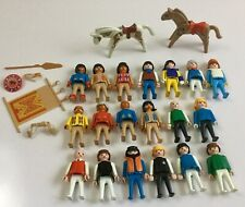 Lot Vintage 1974 Geobra Playmobil Figures Horses and Accessories
