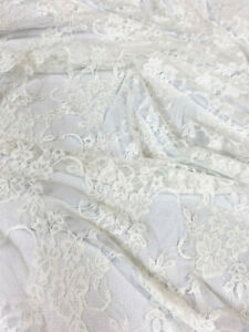 """mds Pack of 1 Yard Bridal Solid Raschel Lace Fabric Vintage Lace Fabric Bolt for Wedding Dress,Fashion Decorations Lace Trim Fabric 55/"""" Width- Black Crafts"""