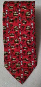 McDonalds Corp. Restaurant Men's Necktie Red Tie Big Macs Drinks Fries 2018