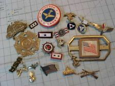 ORIGINAL WWII HOME FRONT PIN / BADGE / INSIGNIA LOT - SOME STERLING