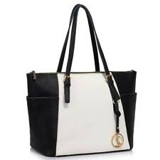 LeahWard Genuine Leather Tote Bag Women's Nice Real Leather Shoulder Handbags