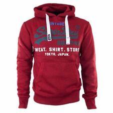 Sudaderas con capucha de hombre rojos Superdry