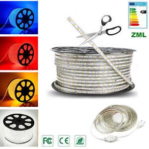 LED Strip SMD 5050 1M-20M 60 Guirlande Bande Ruban Silicone Lampe Etanche IP67