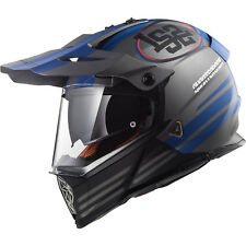 LS2 MX436 Pioneer Quarterback Matt Titanium Dual Sport Helmet Crash Off Road ECE
