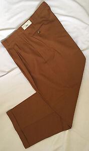 Mens Pants Unique Rust Dress Cuffed trousers dress 32 34 36 38  X 32  NEW
