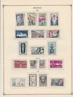 france 1962 stamps page mounted mint & used ref 17494