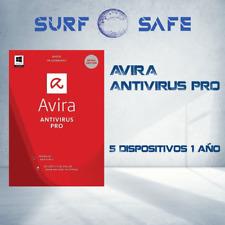 Avira Antivirus Pro 2020 5-PCs 1- año Win y Mac, Clave Global, Multilenguaje
