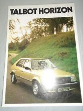 Talbot Horizon brochure Feb 1981