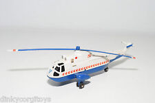 DINKY TOYS 724 SEA KING HELICOPTER WHITE BLUE EXCELLENT CONDITION REPAINT