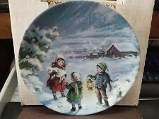 """Vtg. Collectible-1990-""""Th e Lost Lamb"""" Child's Plate-Mimi Jobe-Knowles China"""
