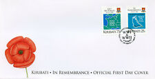 Kiribati 2018 FDC WWI WW1 WWII WW2 In Remembrance 2v Cover Military War Stamps