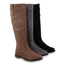 Klassische Damen Stiefel Leicht Gef tterte Boots Nieten Schuhe 820370 Trendy