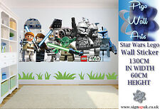 Lego wall sticker Star Wars Childrens Bedroom wall art mural decal extra large