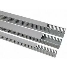 SES GREY PVC OPEN SLOT CABLE TRUNKING 42mmx30mmx48metres