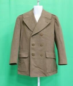 WWII Korea Military Issued Regulation Army Officer's Overcoat Wool Coat