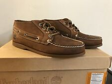 TIMBERLAND 29571 EK.BRIG 4-EYE MEN'S BROWN LEATHER CASUAL BOOTS Size 7.5