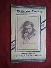 RARO 1930 PORTUGAL LISBON COLISEUM LOHENGRIN WAGNER OPERA LIBRETTO PROGRAMMA