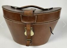 New listing Bombay Vintage Victorian Style Leather Hat Box